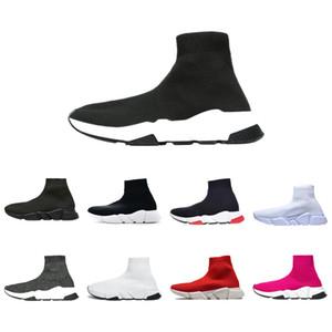 Zapatos de diseño calcetín Triple Negro Blanco Hombres Mujeres zapatos de moda las zapatillas de deporte del brillo amarillo Bue Rosa Plataforma Runner Trainer moda de los hombres 36-45