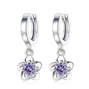 Brinco plum flor peônia brincos de jóias de luxo mulheres brincos feminino simples brinco moda jóias