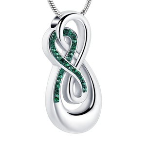 IJD10010 Infinity Keepsakes Cremation Urn Necklace Joyas Love Me Forever for Woman / Man, Human, Pet Ashes Jewelry