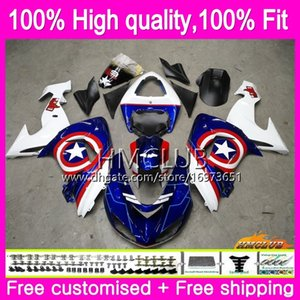 100%Fit Injection For KAWASAKI ZX1000 C ZX 10 R ZX-10R 06 07 Body 63HM.85 ZX10R 06 07 ZX1000C ZX 10R 2006 2007 Blue stars OEM Fairing Kit