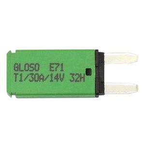 30A 14V DC voiture Circuit Mini fusible à lame véhicule disjoncteur réarmable Protection de circuit vert