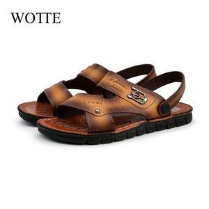WOTTE Hommes Sandales D'été romain sandalias Hommes Casual Chaussures Plage Flip Flops De Mode En Plein Air Pantoufles Chaussures Sandales