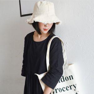 Cotton Women Bucket Hat For Travel Picnic sun hats for women Beach Folding Washed Soft Cloth Caps Fisherman's hats