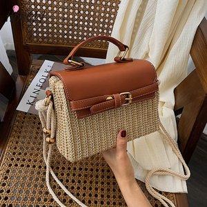 HISUELY 2020 Bohemian Соломенные сумки для женщин пляж сумки лето Урожай Rattan сумка ручной работы Kintted Woven Crossbody сумка кошелек
