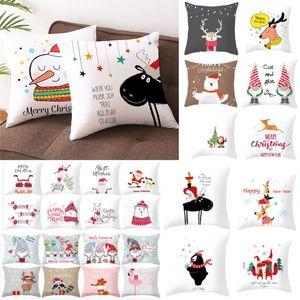 Decorazioni di Natale Copricuscino per Xmas Tree Snowman Santa Clause tiro cuscini Divano tiro cuscino copertina Home Decor WX9-1674