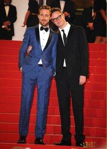 I nuovi 2020 uomini di disegno Blu Wedding smoking dello sposo del vestito dell'uomo Slim Fit Testimone dello sposo sposo Suits (Jacket + Pants + Tie + Vest) 794