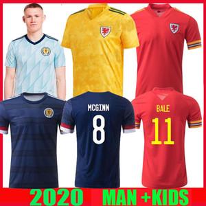 2020 2021 웨일즈 축구 유니폼 스코틀랜드 (20) (21) BALE ALLEN 제임스 벤 맥긴 윌슨 로버트슨 camisetas 홈 떨어져 남자 + 어린이 축구 셔츠