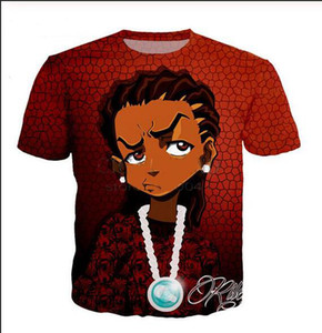 Size BB024 Mens Womans Newest Summer Boondocks Style 3D Casual Print T-Shirt Tops Plus Tees Fashion Kmagc