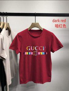 gu̴cci mens designer t shirts t shirt 20ss new European and American fashion personality big printing youth casual short sleeve
