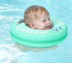 La seguridad del bebé sin Mambo flotante inflable del anillo del cuello redondo anillo flotante de piscina del bebé Accesorios flotador cuello