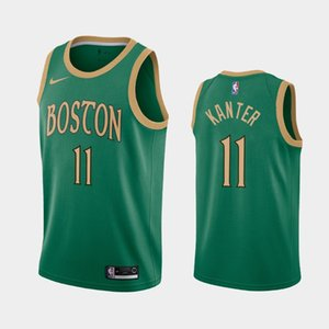 BostonCelticsHommes Enes Kanter N ° 11 2019-20 Saison Icon City Basketball Jersey