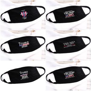 La nave DHL! 5styles Donald Trump 2020 maschera di panno anti-polvere Maschera Divertente Cotton USA Donne Uomini Unisex Moda inverno caldo Mask lavabile