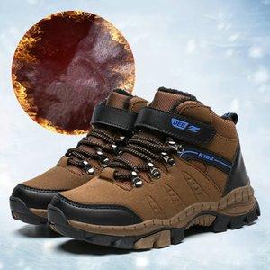 Marka Botlar Çocuk Kış Sıcak Ayakkabı Yeşil Ordu Spor Eğitim Ayakkabı Kaymaz Sepet Erkek Yürüyüş Ayakkabı Yüksek Top Sneakers