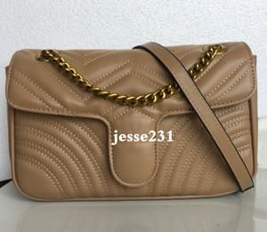 Venta caliente Marmont hombro de los bolsos de las mujeres de la cadena de Crossbody del cuero de la PU del nuevo diseñador bolsos monedero femenino del bolso Mensaje