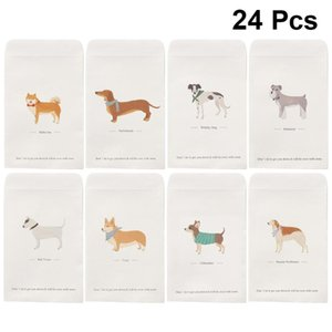 3 Sets 24PCS Simple Cartoon Dogs Letter Envelopes Fashion Envelopes Letter Stationery for Home Office School
