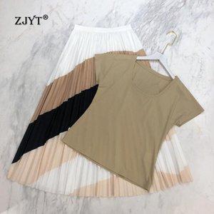 Fashion Summer Sets for Women Short Sleeve T Shirt+Skirt Suit 2 Piece Matching Sets