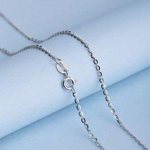 Lo Paulina 925 Silver Jewelry 0.8mm O Shape Chain Sweater Necklace 50cm 55cm 60cm Europe Brand Style Joyas LPC11