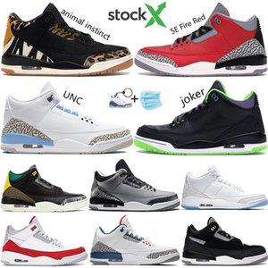 2020 animaux instinct chaussures Jumpman de basket-ball hommes farceur UNC Tinker ciment blanc noir SE feu baskets rouge hommes US 7-13
