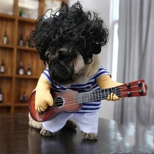 Новый Творческий Костюм Гитары Собака Костюм Интересная Одежда Для Кошек Сумасшедший Стиль Гитариста Pet Смешно Ткань Косплей Высокое Качество 21 5qc