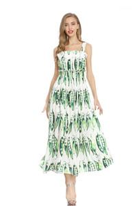 Designer Casual Dresses Sexy Spaghetti Strap Print Bohemian Dress Beach Fashion Female Clothing Womens 2020 Luxury
