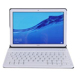 화웨이 MediaPad의 T5 10.1 인치 태블릿 + 스타일러스를위한 분리형 키보드와 자기 플립 PU 가죽 케이스