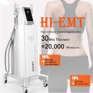 2020 Emsculpt Hifem Elektromagnetische verbrennt Fett-Muskel-Ausrüstung Painless verlieren Hartnäckige Fett um die gezielten Muskeln Hifem