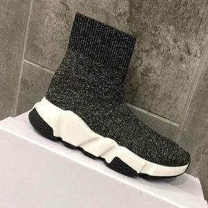 Luxury Designer CasualShoes Speed Black Red Mr Porter Triple Black Flat Fashion Brand Socks Boots Sneaker Speed shoe model r11