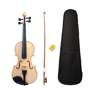 Acústica Estudante adulto Full Size 44 cordas de violino superfície lisa Polido Violin Bow Box Set Novo