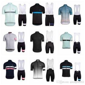 2020 Rapha Mannschaft-Sommer Radtrikot Bib Shorts Sets Herren mit kurzen Ärmeln Quick Dry Voll Zipper Wearable Breathreitbekleidung Q71215