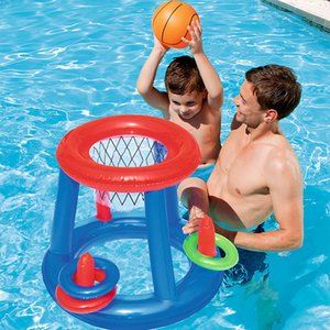 Şişme Yüzmek Havuzu Basketbol Oyunu Su Sporları Yüzmek Havuzu Şamandıra Çocuk Parti Oyunu Oyuncak Su Aksesuarı Hentbol