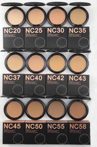 Freies Verschiffen ePacket! Neue heiße Make-up Puder Qualität NC 12 Farbe studiu FIX Pulver Puffs Grundlage 15g