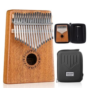 17 Key Kalimba African Mbira Thumb Piano Finger Percussion Keyboard Music Instruments Children Gift with Case Tuning Hammer