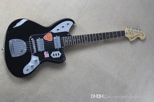 جديد وصول JAGUAR الأسود ستراتوكاستر الغيتار الكهربائي باللون الأسود