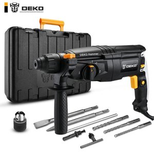DEKO 220V 26mm 4 Functions AC Electric Rotary Hammer Electric Impact Drill with BMC and Accessories