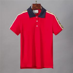 Yeni 2020 İtalya Marka polo gömlek Lüks t shirt yılan arı çiçek nakış mens polos Yüksek sokak moda şerit baskı polo tasarımcıları