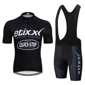 2020 BlacK Quick step etixx Cycling Clothing Bike jersey Quick Dry Bicycle clothes mens summer team bike shorts set