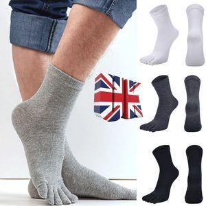 Mens Casual Bambusfaser Strümpfe Socken Business-Toe Stiefel Baumwolle Arbeit Socken