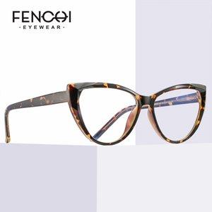 FENCHI TR90 Cat Eye Clear Компьютерные очки Анти синий свет Блокировка очки фильтр уменьшает напряжение глаз Gaming Goggles очки