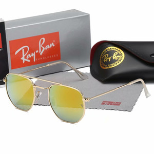 2019 moda óculos de sol da moda das mulheres dos homens óculos de sol clássico óculos de sol de metal oval moda óculos de boa qualidade 3648