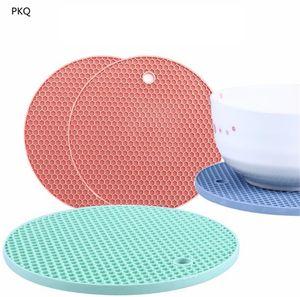 Tovaglietta da tavola rotonda in silicone Tovaglietta resistente al calore Stoviglie Stoviglie Lavapiatti Cuscino per tazze Tappetino per stoviglie