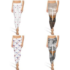 Eğitim Tozluklar portakal ABD bayrağı için uygun Yumuşak Hiçbir ayaklar Casual Teksas Uzunboynuzlar futbol logosu beyaz Moda Kadınlar Tasarım Yoga pantolonları