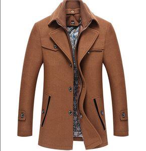Mens Wintermantel Mode Plus Size Dick Wolljacke Designer Normallack-dünne Oberbekleidung