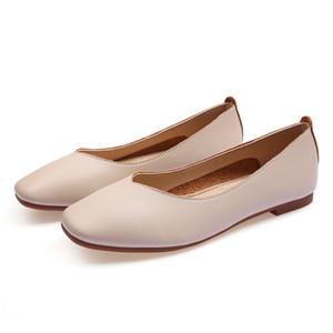zapato plano de tamaño lager 33-43 para mujer gris de la boda del nuevo del arrivel de Trabajo negro zapatos de vestido de partido barato 2020 señoras de cuero chica desnuda sesenta y siete