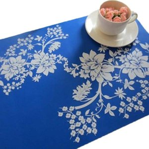 Fashion Print PP Placemat Coasters Pads Dining Table Mat Heat Insulation Dining Table Mat Placemats Silicone Mat