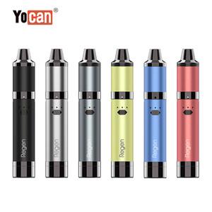 Authentic Yocan Regen Kit 1100mAh Battery Wattage Adjustable QTC Coil Wax Vaporizer E Cigarette With Silicon Jar Vape Pen 6 Colors