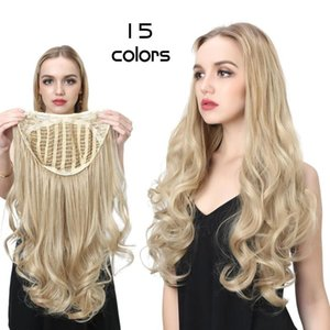 Honey Blonde U Part Human Hair Wig Deep Wave Middle Brown Free Part Long Soft Remy Hair Wig For Women