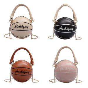 Femmes Girl Fashion PU Basketball en forme de sac à main en cuir épaule Messenger sac à bandoulière Satchel Tote bourse