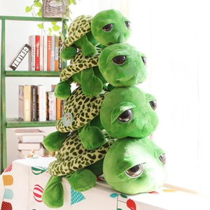 귀여운 큰 눈 거북 인형 거북이 플러시 장난감 창조적 인 만화 거북 입상 박제 동물 장난감 애니메이션 크리스마스 선물 wholesale