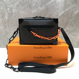 Box Trunk Bag couro genuíno Mini Balde ombro M44480 Flor simétrica Bag Pouch Mulheres Moda Bolsas bolsa Corpo Cruz