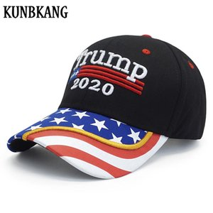 High Quality Trump 2020 Hat Usa Flag Cap Mens Baseball Cap Women Snapback President Hat 3D Embroidery Donald Trump Caps 2020 JQvIH